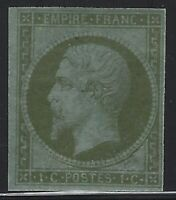 France - 1860 - Scott # 12 Imperf - Mint OG Lightly Hinged - VF/XF - Renaud Cert