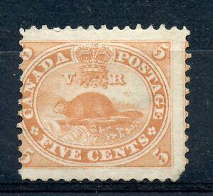 Weeda Canada 15 VG unused 5c vermilion Beaver First Cents issue CV $100