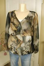 ALBA MODA Tunique Blouse Mousseline Chemisier Mousseline Transparent Taille XL 42 ressort (w88)