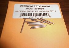 01059 REDDING DECAPPING PINS - SMALL - PKG OF 10 - BRAND NEW - FREE SHIPPING!