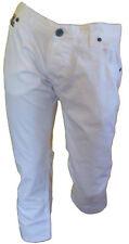 Imperial Pantalones a 3/4 Capri bermudas 100 % algodón hombre blanco Talla 50