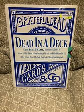 Grateful Dead Dead In A Deck Picture Disc CD Playing Cards Built To Last Box Set