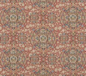 GP & J BAKER CURTAINE FABRIC 'KIANA - RED/BLUE' 7.8 METRES (780cm) LINEN BLEND