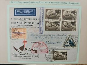 1934 COVER FROM SEMERANG DUTCH NEDERLAND INDIES TO CURACAO B111.6 $0.99