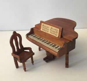 Dolls House Piano And Chair
