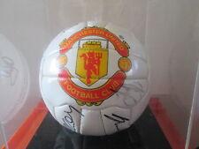 Manchester United 1996-1997 Squad Signed Football in case inc Cantona & Beckham