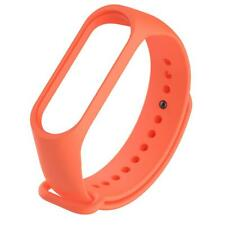 Silicone 220mm Wriststrap Band for Xiaomi Miband 3 Watch (Orange)