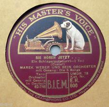 """Marek Weber & Die 5 Songs - """"Sie hören jetzt..."""" Schlager Potpourri 1&2  H.M.V."""