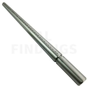 Ring mandrel uk sizes solid steel finger A-Z jewellery shaping sizing craft tool