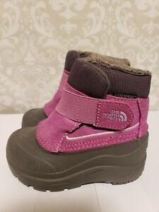 The North Face Alpenglow 6 Toddler Girl Waterproof Leather Snow Winter Boots