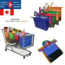 Reusable Grocery Trolley Bags Grocery Organizer Hanging Storage Bag For Shopping