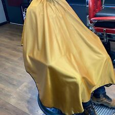 GOLD SATEEN BARBERS GOWN HAIR CUT/CUTTING HAIRDRESSING HAIRDRESSERS SALON CAPE