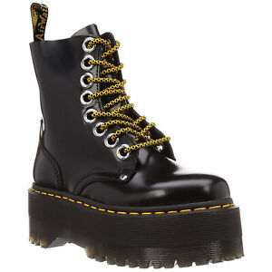 Dr.Martens Womens Boots Jadon Max Casual Ankle Lace-Up Zip-Up Buttero Leather