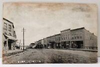 Lansing Iowa, Lower Main Street 1908 Photo RPPC Postcard C5