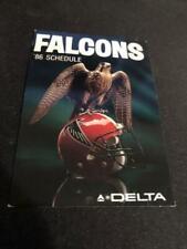 1986 Atlanta Falcons Football Pocket Schedule Delta Version