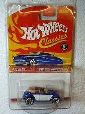DARK BLUE HOT WHEELS CLASSICS SERIES 2 - VW BUG CONVERTIBLE #21 (VOLKSWAGEN)