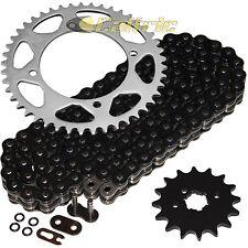 Black O-Ring Drive Chain & Sprockets Kit Fits YAMAHA XV250 Virago 250 1989-2008