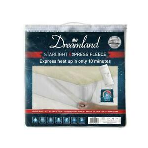 3FT SINGLE BED FLEECE HEATED UNDERBLANKET DREAMLAND STARLIGHT EXPRESS, CHAMPAGNE