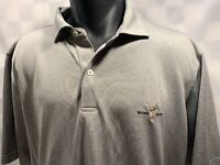 BOONE VALLEY Embroidered Golf Gray Polo Shirt Men's Size XL