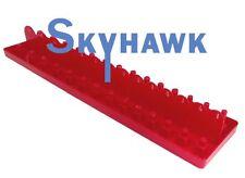 """1/2"""" DR SAE SOCKET TRAY RACK RAIL HOLDER HOLDS 26 SOCKETS RED"""