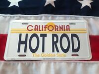 California Hotrod Number Plate,American Licence Car Wall Sign Man Cave Garage