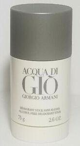 ACQUA DI GIO by Giorgio Armani Alcohol Free Deodorant Stick 2.6 oz For Men F.Shp