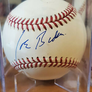 46th President JOE BIDEN signed 2020 OML Baseball JSA Full Letter COA