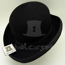 VINTAGE Wool Felt Boys Dura Bowler Top Hat Kids Girls Derby Party | 52cm | Black