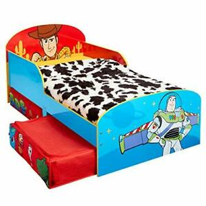 Disney Toy Story 4 Kids Toddler Bed with Storage Drawers by Hello Home, 143cm