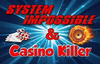 "Roulette Systems Package 2x - ""Casino Killer"" & ""System Impossible"" (100% WIN)"