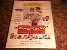 GOING STEADY ORIG MOVIE POSTER MOLLY BEE 1958