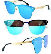 Ray Ban RB 3576-n Lunettes de soleil Blaze Bleu Miroir Or Clubmaster 3580 Lunettes RX