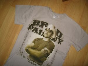 Brad Paisley Tee - 2008 Party Tour Country Western Cowboy Concert T Shirt Small