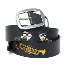 Dolce & Gabbana Men's Musical Instrument Applique Leather Belt, Black, MSRP $750