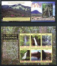 Nevis 2006 Wald Forrest Wasserfall Water Fall 2136-41 + Block 262-63 MNH