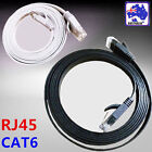 Black White Flat Network Cable RJ45 LAN Ethernet Cat6 10m 15m 20m 25m 30m ESIXW