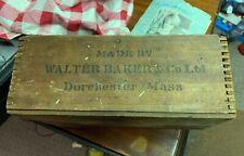 Rare Walter Baker & Co Ltd Chocolate Box Wood Premium No 1 Dorchester MA 24 Pkgs
