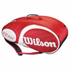WILSON TEAM 6 PACK TENNIS KIT BAG PRICE-(RED)