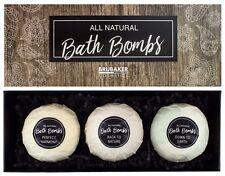 BRUBAKER 'All Natural' Boules de bain effervescentes Coffret cadeau 3 Pièces