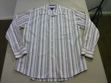 057 MENS NWOT GANT PINK / BRONZE / BLUE / WHITE STRIPED L/S SHIRT XL $180 RRP.