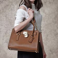 NWT❤️ Michael Kors Hamilton Saffiano Leather EW East West Satchel Luggage Brown