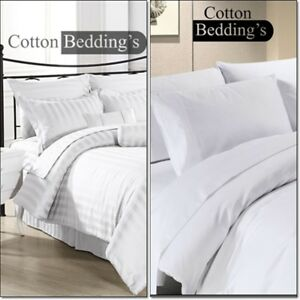 NEW YEAR SALE 600-800-1000-1200 TC Egyptian Cotton White in UK Super King Size