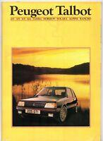 Peugeot Talbot Mid 1984 UK Brochure Samba Horizon Alpine Rancho 205 305 505 604