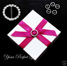 12 ROUND LARGE Wedding Rhinestone Invitation Buckles