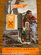 GERBER BEAR GRYLLS FIRE STARTER  POCKET GUIDE WATERPROOF MAGNESIUM SURVIVAL GEAR