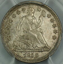 1856 Seated Liberty Silver Half Dime, PCGS MS-64 Lightly Toned AKR