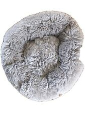 Large Fluffy Cat Bed - Grey - Never Used