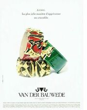 Publicité Advertising  0817  1994  joaillier Van Der Bauwede  collection Lierre