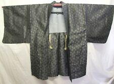 Vintage Dark Grey Japanese Silk Haori, Very Good Condition - VH 022