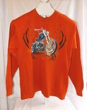 Canyon River Blues Boys Long Sleeve Shirt 18/20 XL Burnt Orange Motorcycles NWT